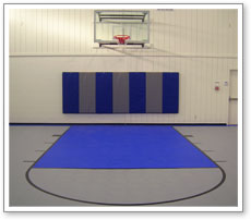 Indoor basketball court personal in home gym exercise room for Personal basketball court